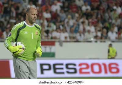 BUDAPEST, HUNGARY - SEPTEMBER 4, 2015: Gabor Kiraly pictured during the European Qualifiers game between Hungary and Romania, at Groupama Arena.