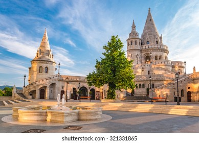 Budapest Hungary, sunrise at Fisherman Bastion