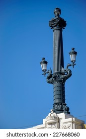 BUDAPEST, HUNGARY/EUROPE - SEPTEMBER 21 : Old street light in Budapest Hungary on September 21, 2014