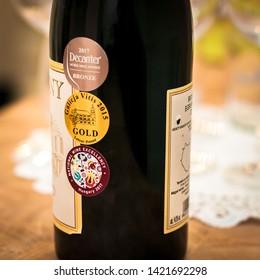 Budapest / Hungry -01-21-2018: Hungarian Wine Awards (Decanter, IWC, VinAgora, Challenge International du Vin, Mundus Vini, Monde Selection etc.)
