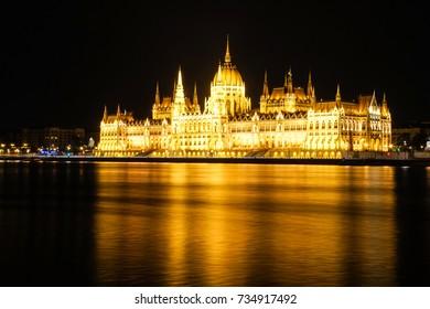 Budapest Illuminaed By Night