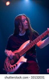 """BUDAPEST, JULY 1: """"Dream Theater"""" performs on stage at Sportarena, July 1, 2009 in Budapest, Hungary."""
