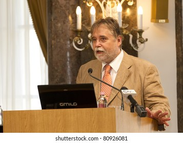 BUDAPEST - JULY 11: Barna Mezey,rector of ELTE University at the opening ceremony of Budapest Summer University on July 11, 2011 in Budapest, Hungary.