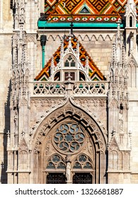 Budapest, Matthias Church, detail of an entrance