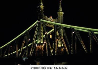 budapest night bridge of freedom