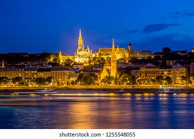 Budapest at night, Hungary
