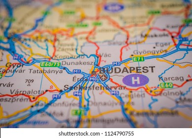Budapest Map Images Stock Photos Vectors Shutterstock