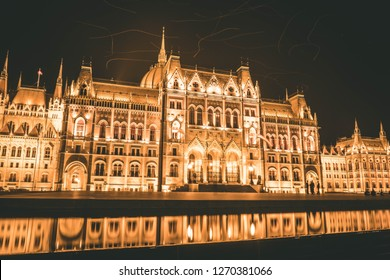 Budapest parliament in the night