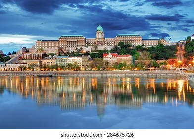Budapest Royal palace with reflection, Hungary