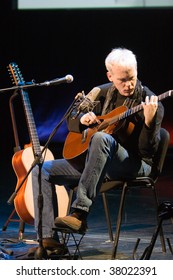 BUDAPEST - SEPTEMBER 27: Guitarist Kevin Kastning performs on stage of Millenaris September 27, 2009 in Budapest, Hungary