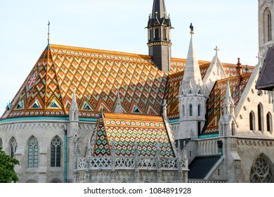Budapest. View of Fisherman's Bastion and the church of St. Matthias from the east