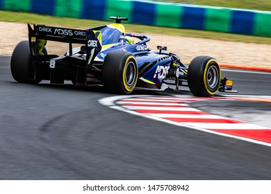 Budapest/Hungary - 2019-08-02 - #1 Louis Del traz (CHE, Carlin, Dallara F2/18) during practice ahead of qualifying for the FIA Formula 2 race 1 at the Hungaroring