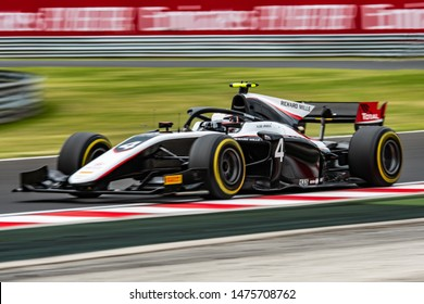 Budapest/Hungary - 2019-08-02 - #4 Nyck De Vries (FRA, Carlin, Dallara F2/18) during practice ahead of qualifying for the FIA Formula 2 race 1 at the Hungaroring
