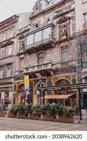 BUDAPEST,HUNGARY - January, 2019: Hungarian House of photography, Mai Mano House at the Nagymezo street, Budapest.