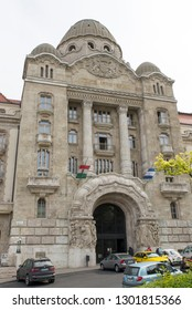 Budapest/Hungary - May 01 2015: The Danubius Hotel Gellért, a 1918 Art Nouveau hotel. Hotel Gellért is famous for its thermal baths. The Gellért Spa is a very special attraction.