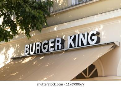 Budapest/Hungary-08.28.18 :Burger king fast food store logo
