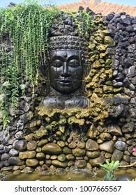 buddah fountain garden