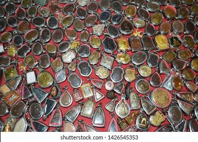 Buddha amulets : small Buddha statue ,Thai people popular with Buddha amulet