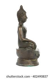 Buddha of Buddhism religion isolated on white background