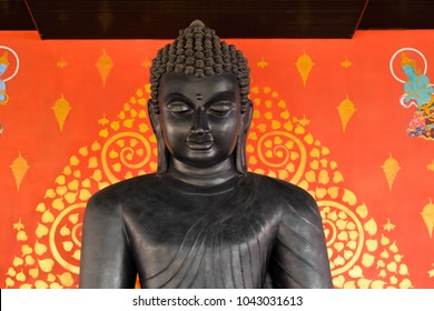 buddha Buddhist temple closeup portrait beautiful face Thailand cultural background black
