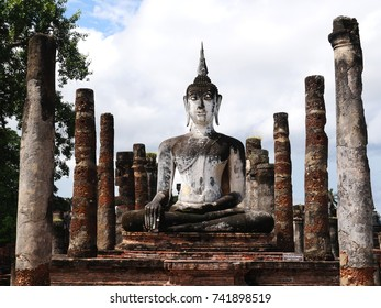 The Buddha building in the Sukhothai historical park