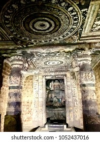 Buddha Craving in Ajanta cave India