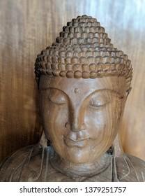 Buddha face closeup