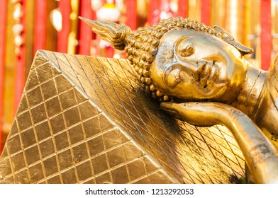 Buddha face at the Grand Palace in Bangkok, Thailand. South East Asia