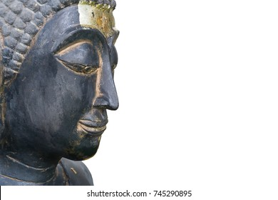 Buddha face isolated on whie background