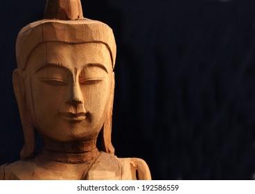 Buddha Face on Black background