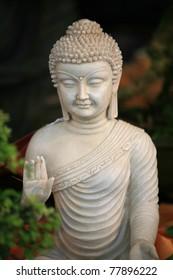 Buddha figurine in the garden