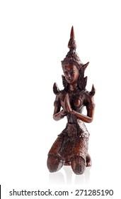 buddha figurine isolated on white background