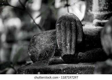 Buddha hand in b&w