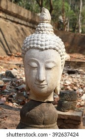 Buddha head broken