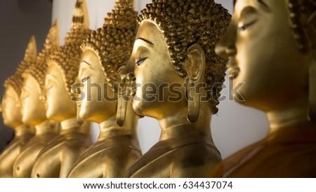 4172f78b4d6 Buddha Head Form Wat Phra Si Stock Photo (Edit Now) 634437074 ...