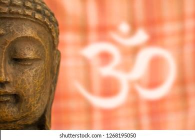 Buddha head with OM Sign