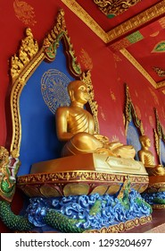 Buddha image of buddhist architecture in temple