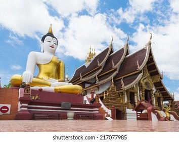 Buddha image at chiang mai temple, Thailand.