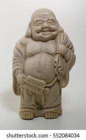 Buddha image in studio with white background