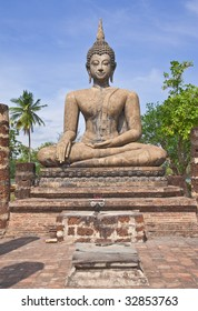 Buddha image in Sukhothai Historical Park, former capital city of Thailand