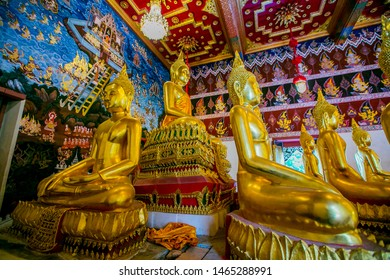 Buddha image in the temple Buddhist temples in Thailand