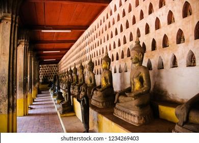 Buddha image, Wat Si Sake Vientiane Laos