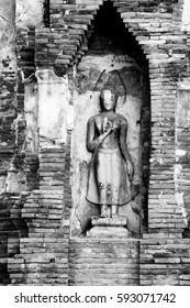 Buddha image  at word heritage, Ayutthaya, Thailand