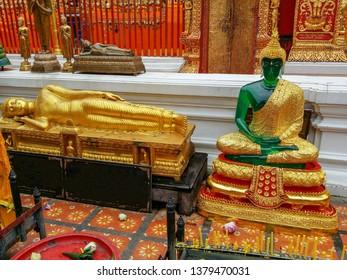Buddha Jade and Buddha reclined Chiang Mai  - Thailand