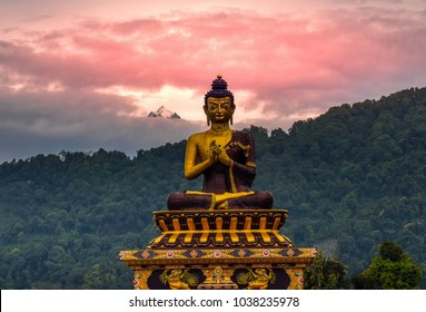 Buddha with Mt. Kanchenjunga