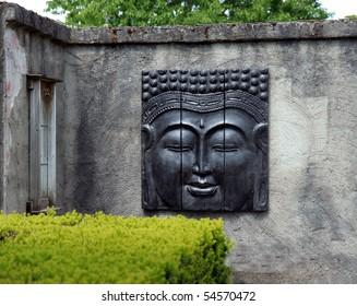 Buddha on an old wall