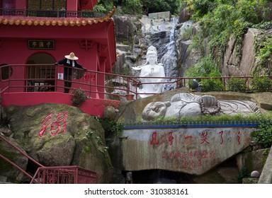 Buddha park, Asian park in Honkong. 10000 Buddhas monastery