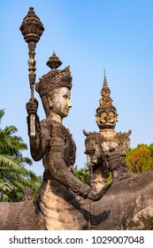 The Buddha Park, also known as Xieng Khuan, built in 1958 by Luang Pu Bunleua Sulilat, a Buddhist Monk.