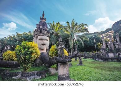 Buddha park, near Vientiane in Laos