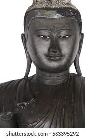 Buddha portrait isolated on white background